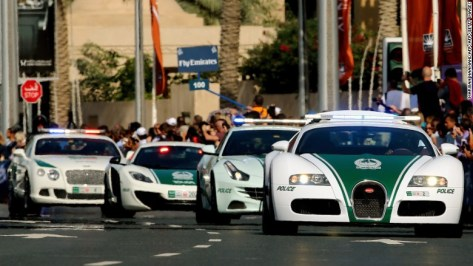 The Dubai police began decorating its fleet with supercars in 2013, to promote the image of Dubai and break down barriers between the police and the public.