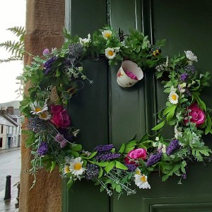 artificial door wreath