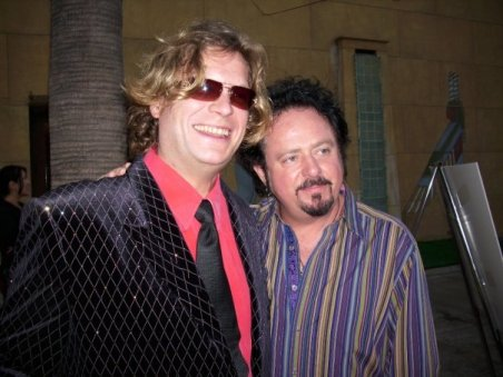Alex DePue with guitarist, Steve Lucather, founding member for rock band, Toto.