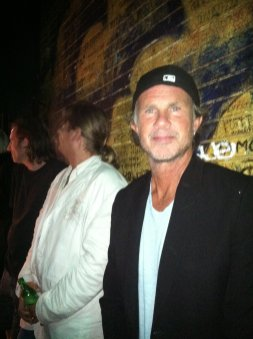 -with Chad Smith, drummer for Red Hot Chilli Peppers.