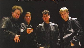 classical grass cover (four brothers wearing black leather jackets)