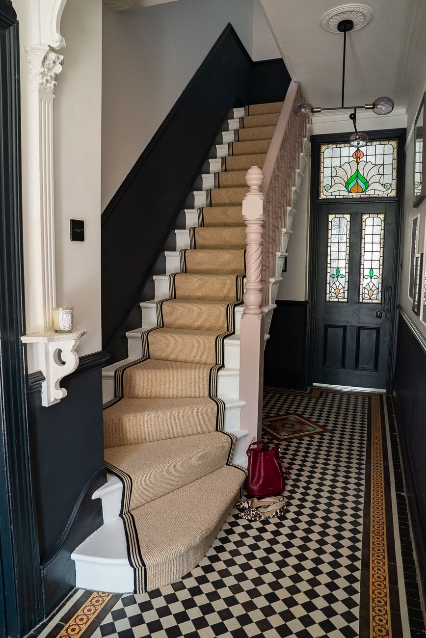 How To Achieve Your Perfect Stair Runner The Frugality | Flooring For Stairs Not Carpet | Stair Tread | Stain | Staircase Makeover | Bullnose Carpet | Laminate Flooring