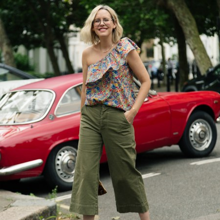 Three ways to wear: barrel leg trousers