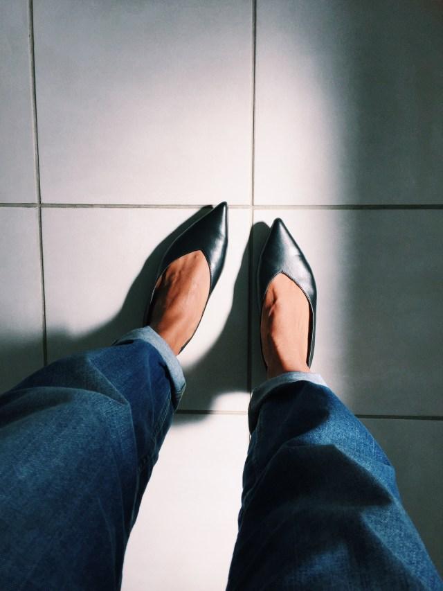 H&M Black Almond Toe Shoes