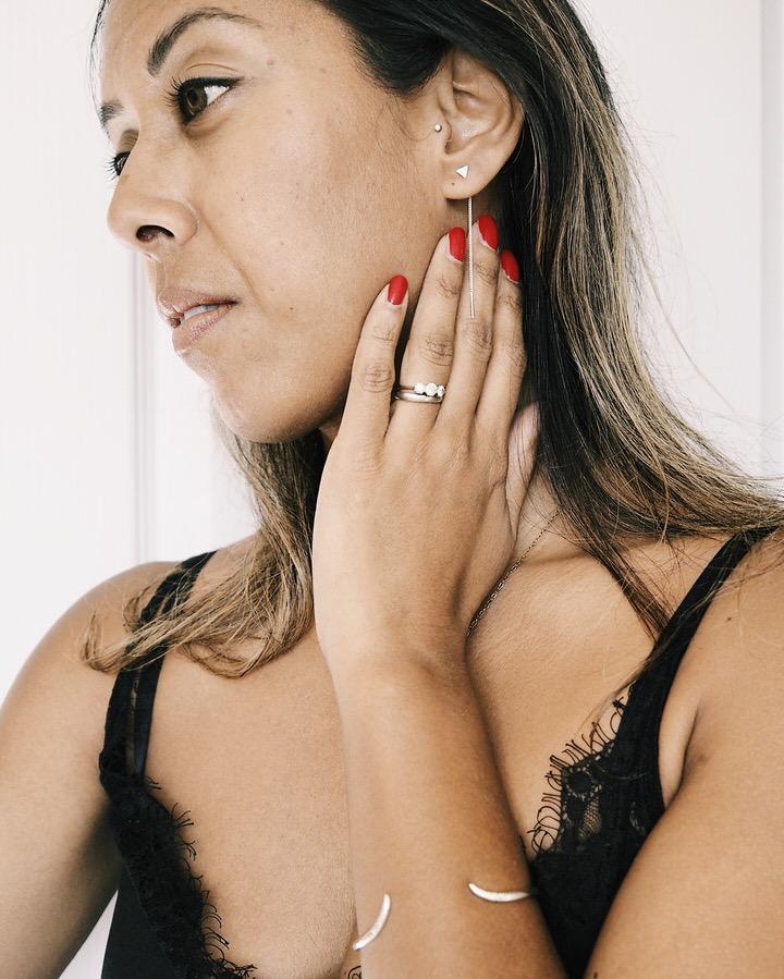 The FT Times wearing Nu & Mii jewellery