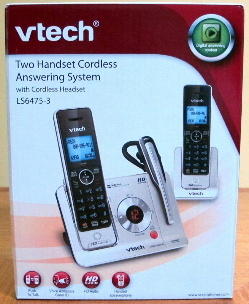 VTech Handset/Headset Cordless Answering System LS6475-3