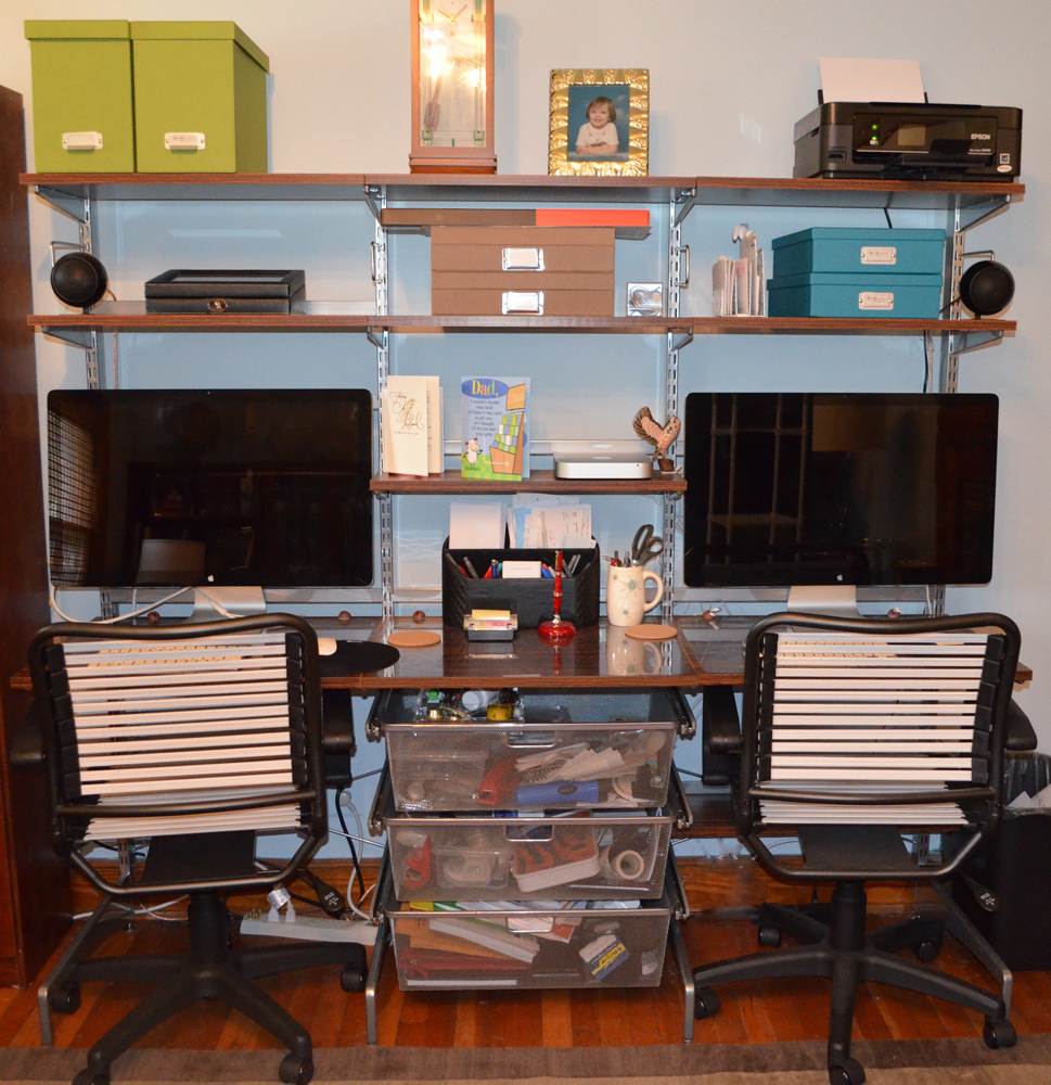 Build an organized home office without permanently