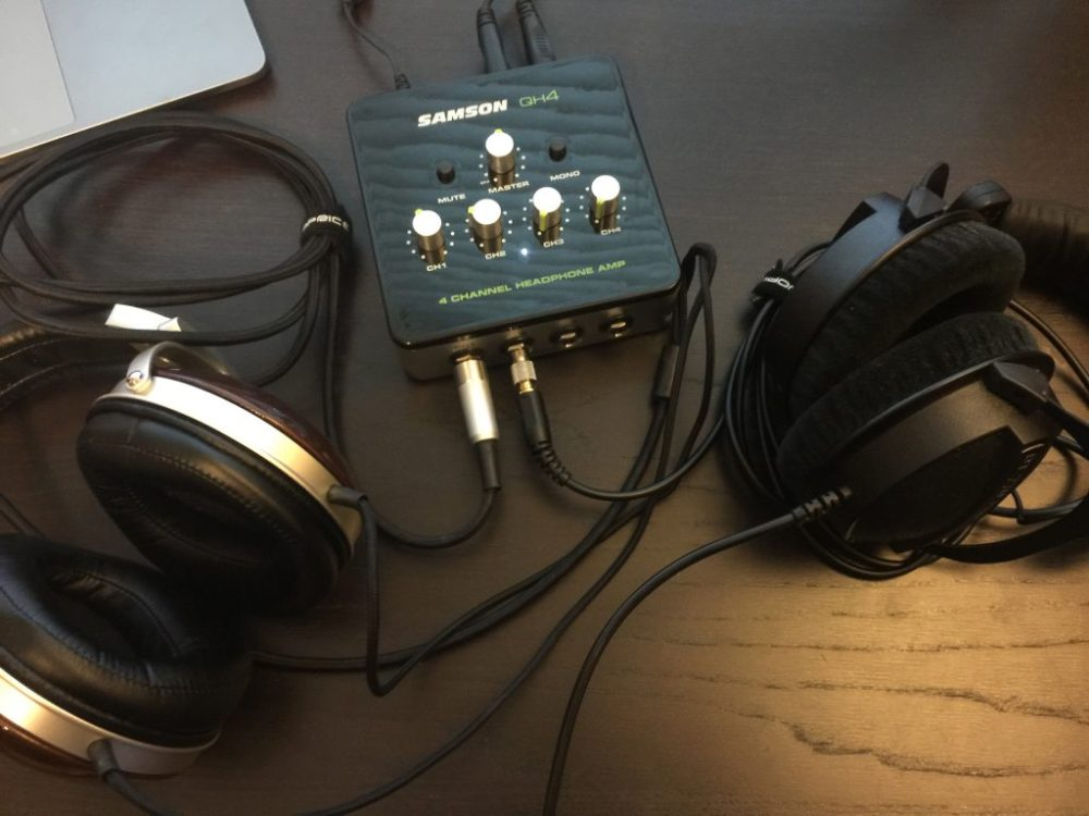 medium resolution of  samson qh4 4 channel headphone amplifier review the gadgeteer on samson servo 300 schematic