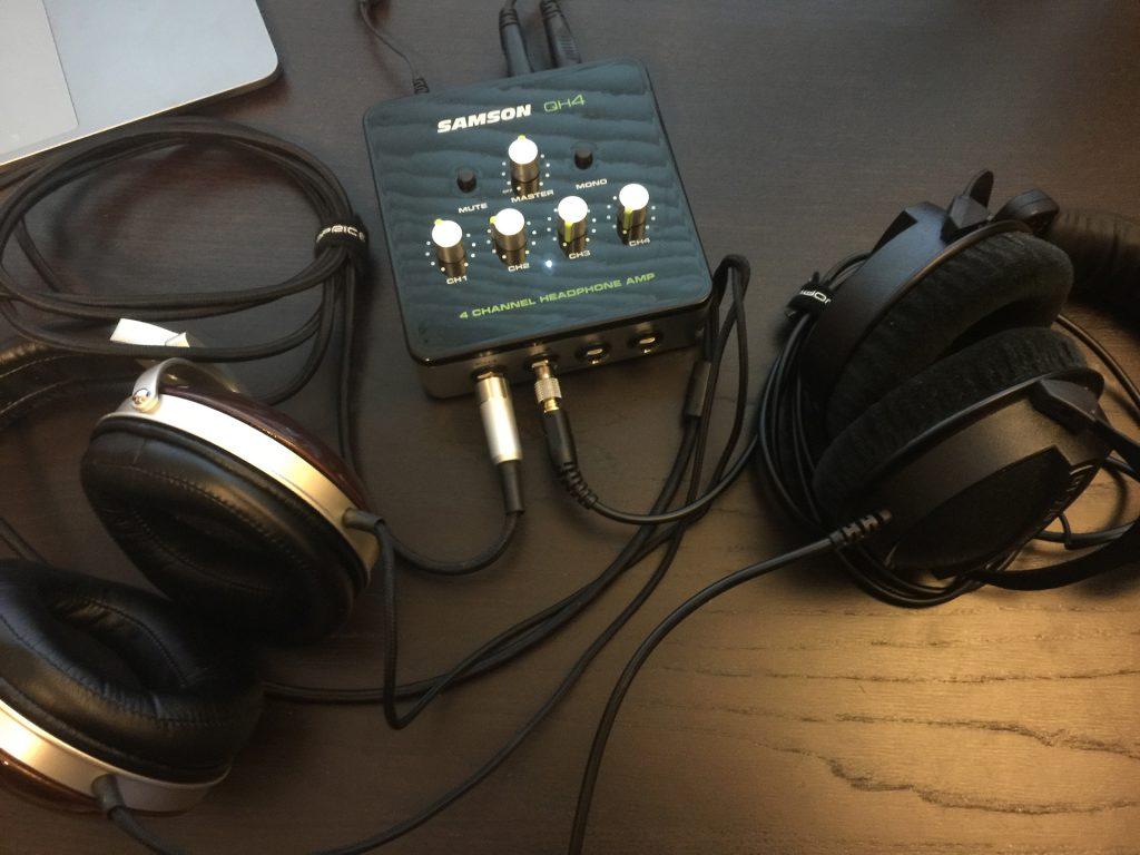 hight resolution of  samson qh4 4 channel headphone amplifier review the gadgeteer on samson servo 300 schematic