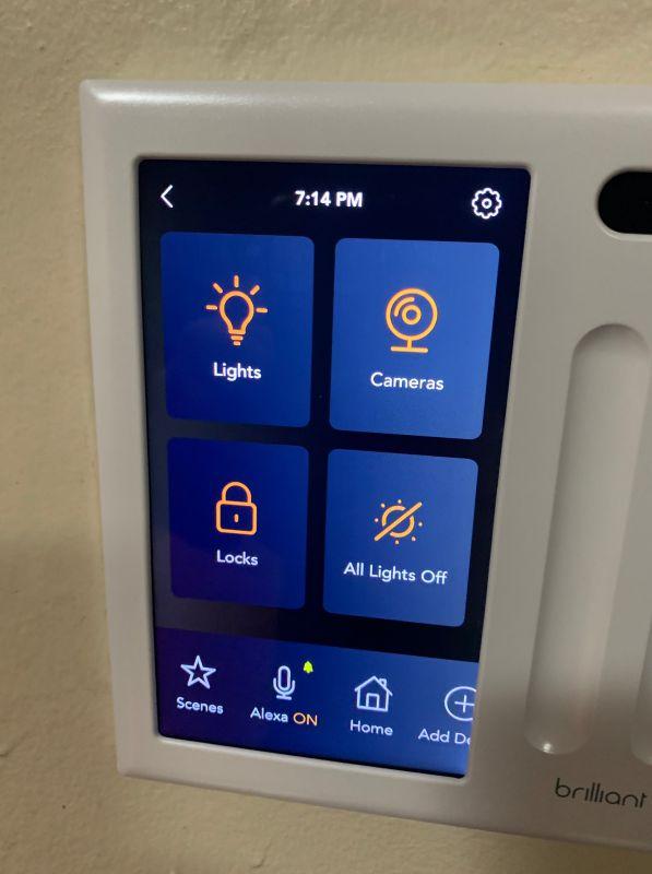 brilliant home control smart switch