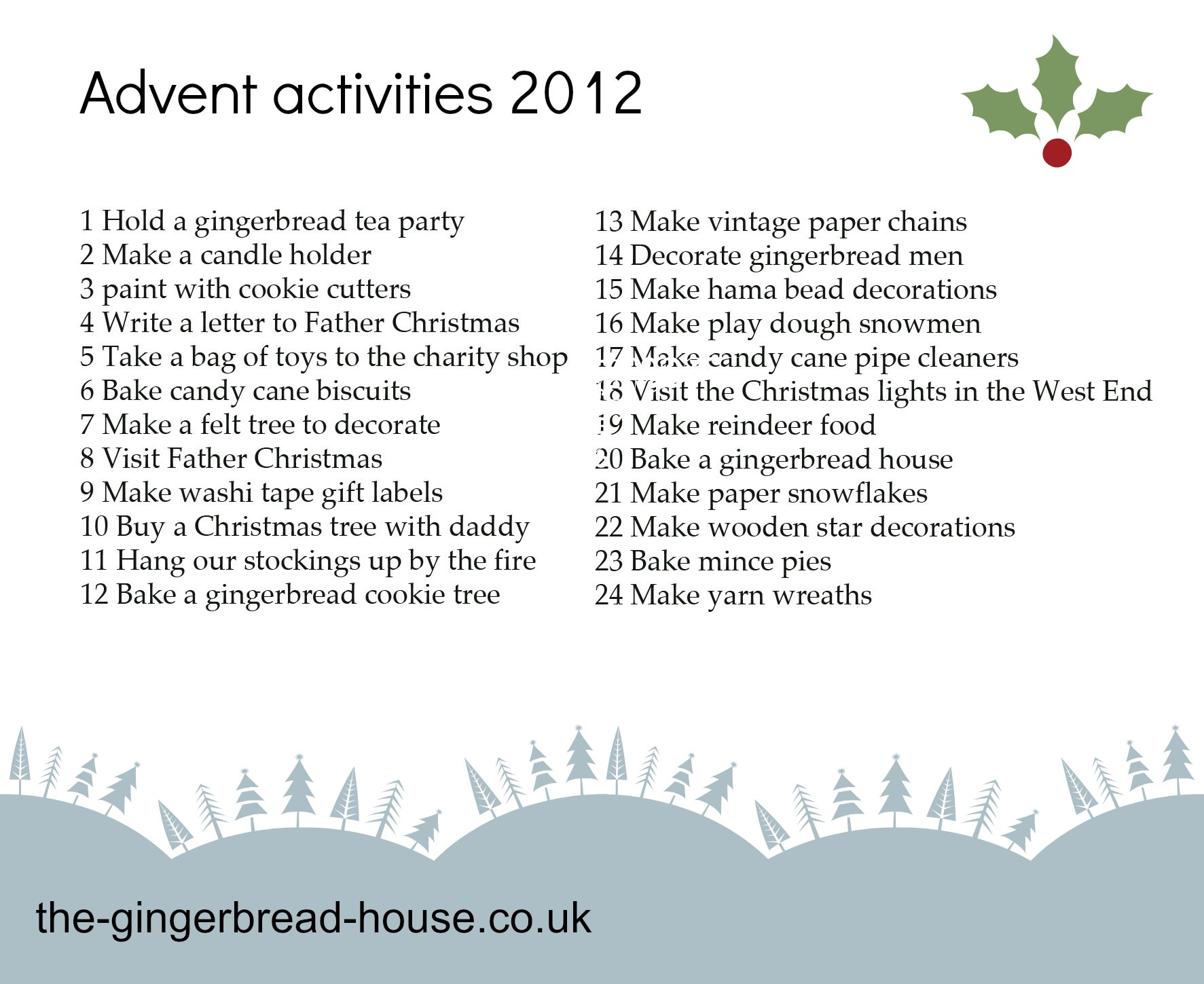 Our Advent Activities