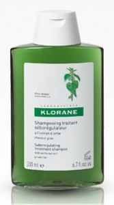 bottle of klorane shampoo