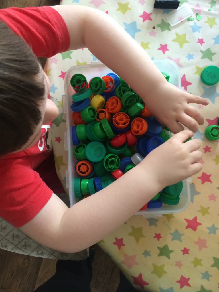 crafting with bottle tops