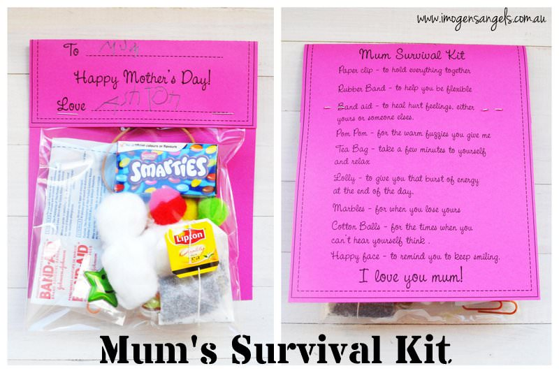 photograph relating to Printable Survival Cards titled Mums Survival Package Printable - .united kingdom
