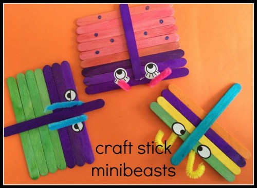 craft stick mini beasts
