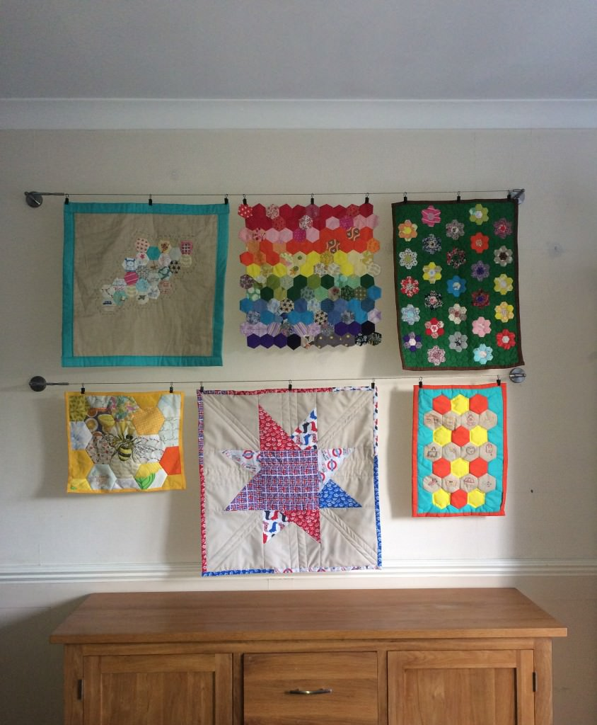 quilt gallery wall