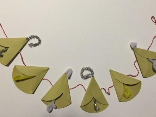 paper bell garland