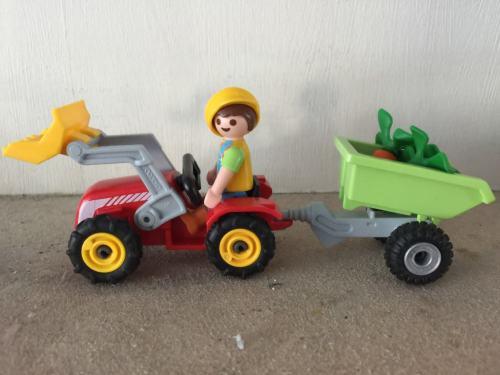 Playmobil tractor boy