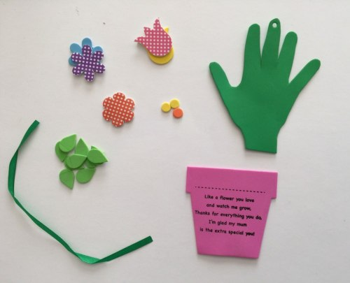 Mothers Day hand print craft