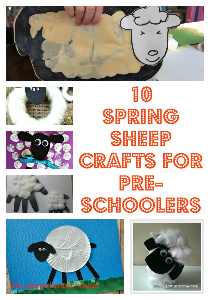 10 Spring sheep crafts for pre-schoolers