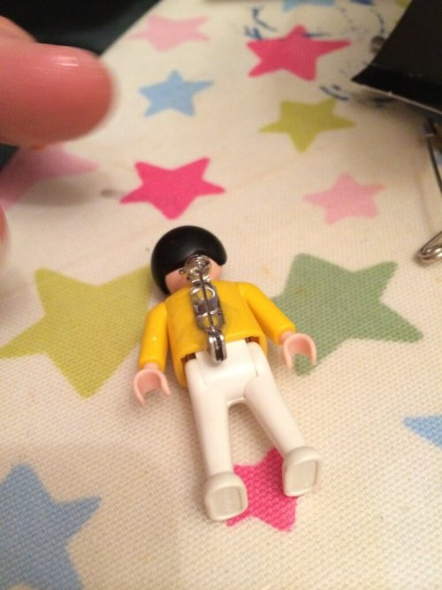 vintage Playmobil person bagde