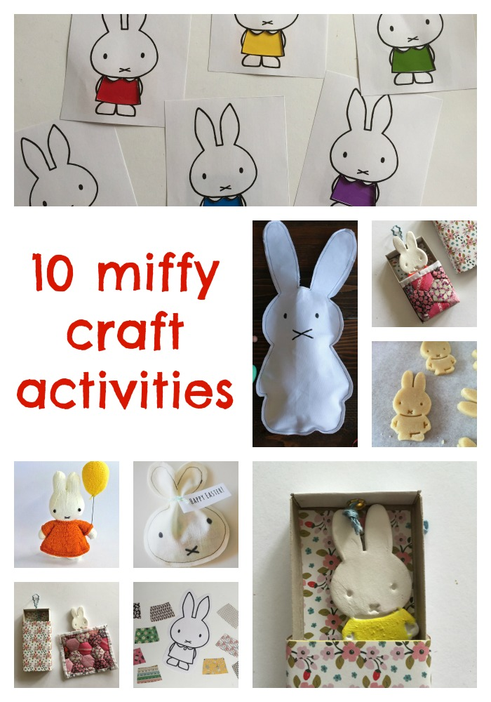 10 miffy craft activities by the gingerbread house