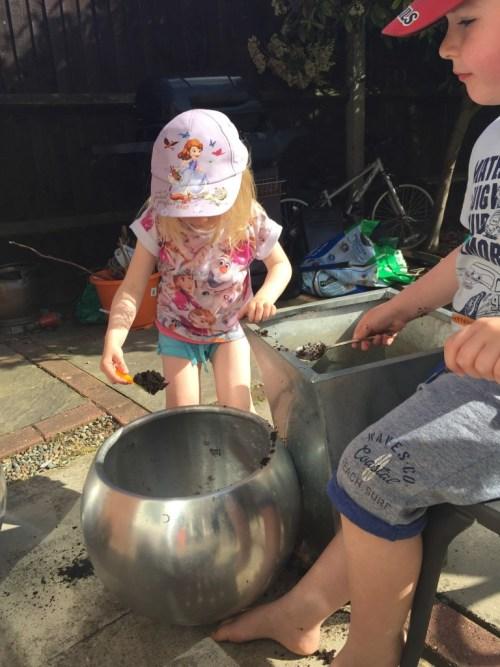 building a fairy garden for children