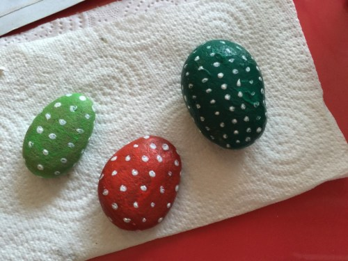 painted pebble cactus