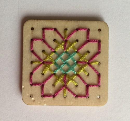 Jenny Makes Mollie Makes cross stitch jewellery kit