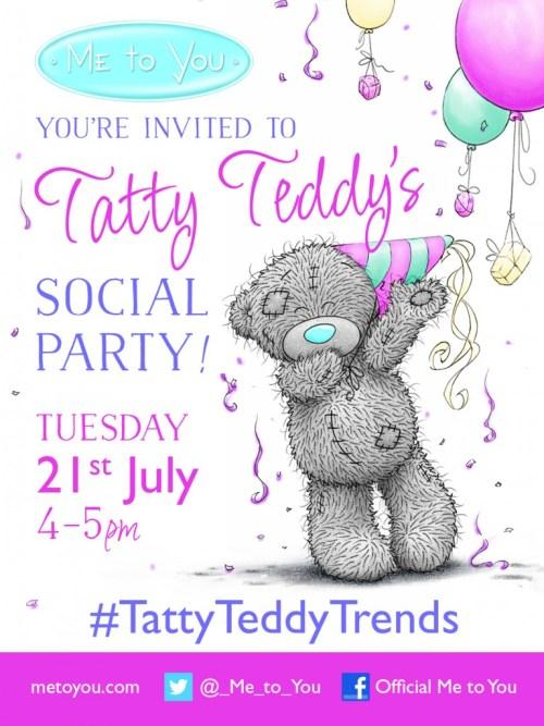 Tatty Teddy Twitter Party Invite