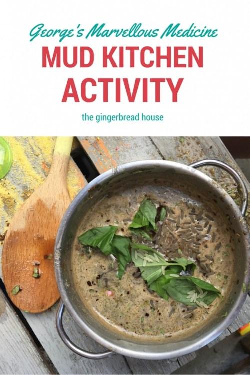 George's Marvellous Medicine mud kitchen activity