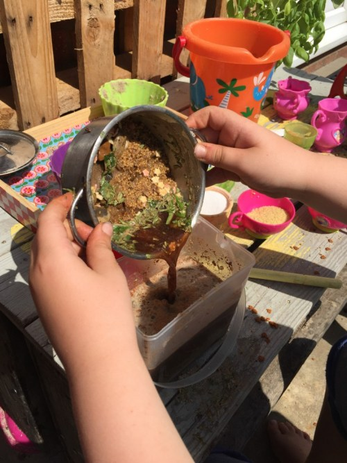 George's Marvellous Medicine mud kitchen activity