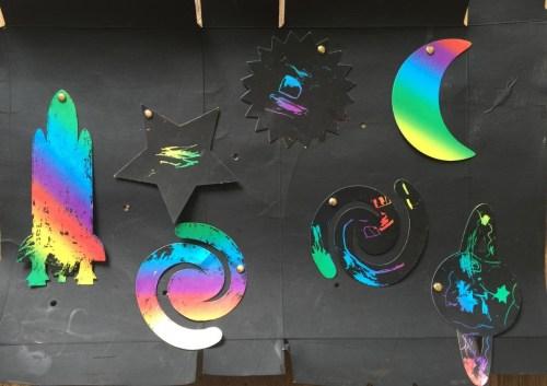 Baker Ross scratch art planets