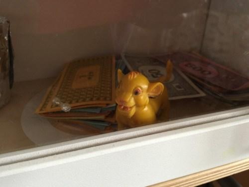 hiding toy animals around the house