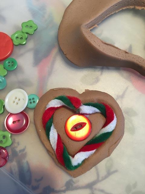 gingerbread play dough heart