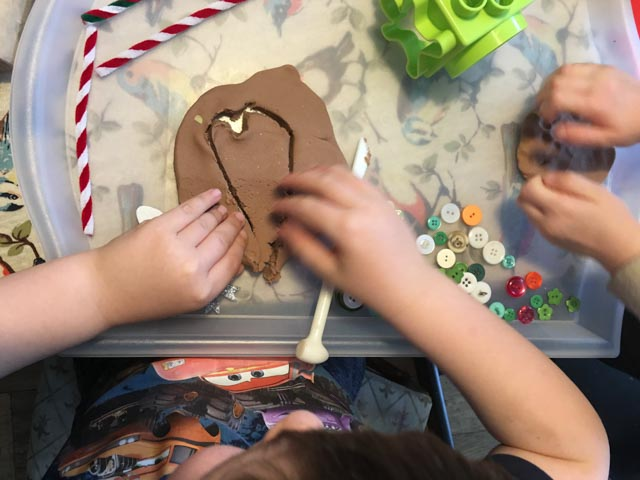 gingerbread play dough heart