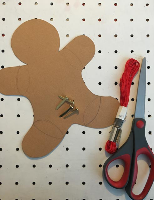 gingerbread jumping jack decoration