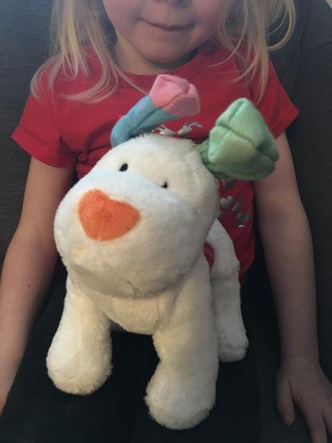 The Snowdog soft toy