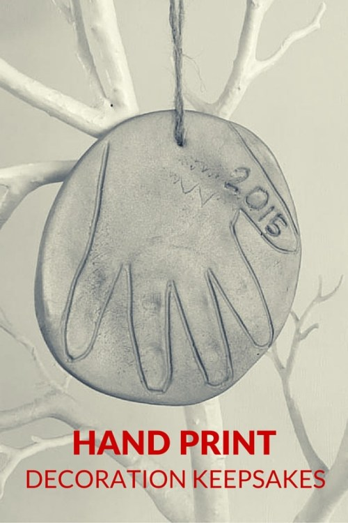 hand print decoration keepsakes