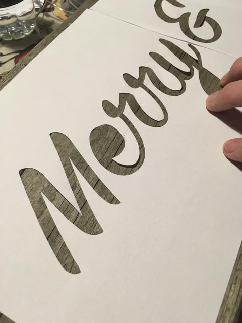 Make a festive upcycled sign with lights