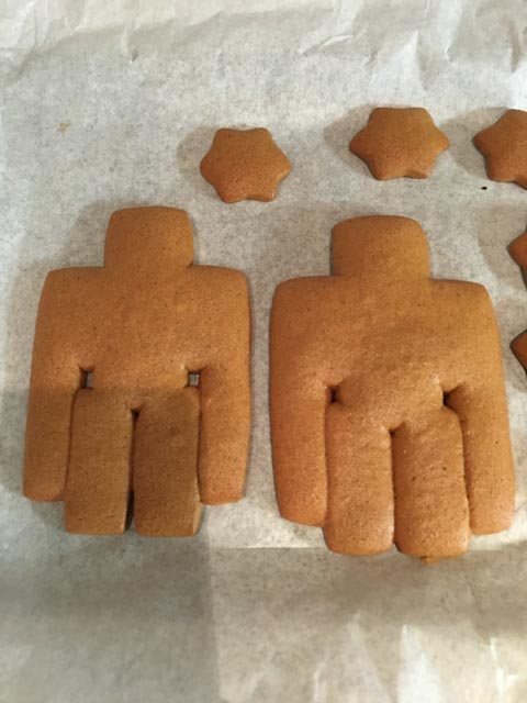 gingerbread Minecraft cookies