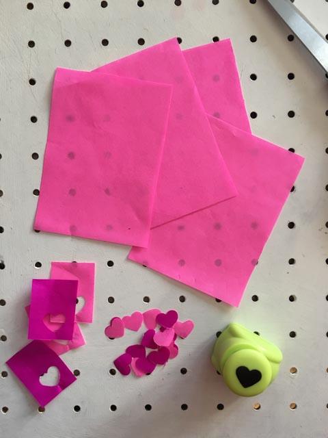 Easy tissue paper Valentine luminary