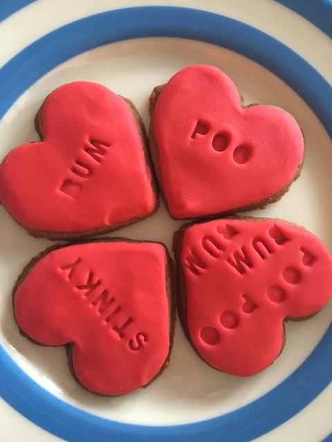 rude word biscuits