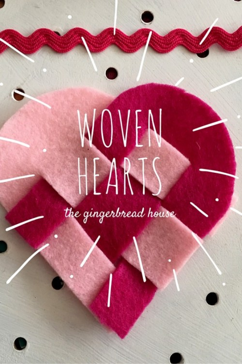 Easy woven heart decorations