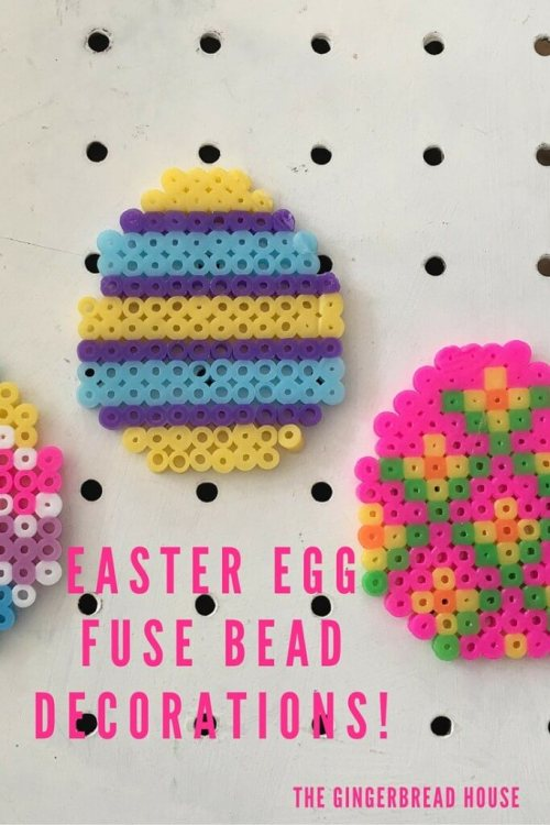 EASTER Egg FUSE BEAD decorations!