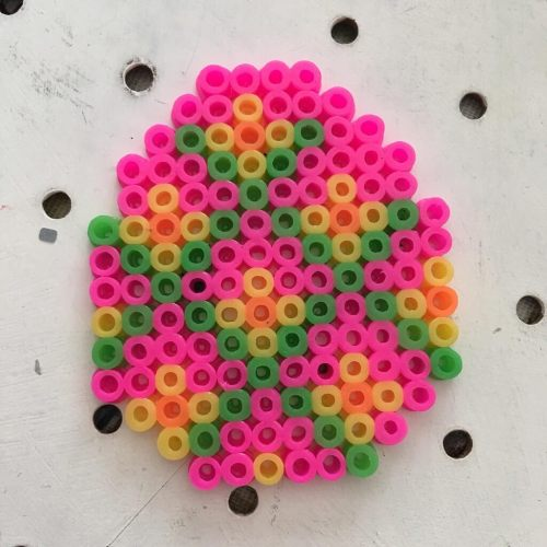 Easter egg fuse bead decoration