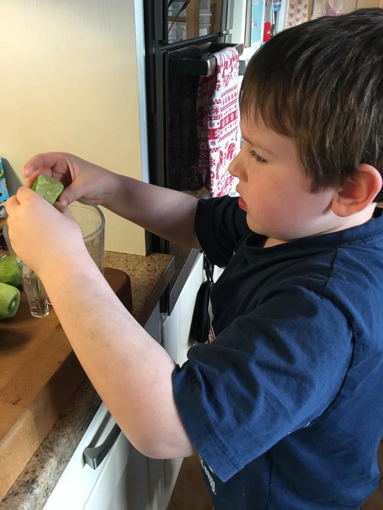 boy making frobscottle