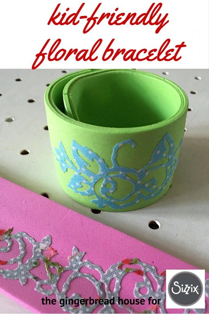 kid-friendly floral bracelet
