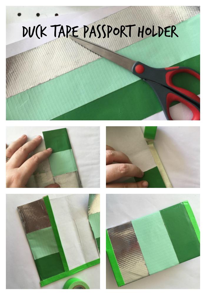 Duck Tape passport tutorial