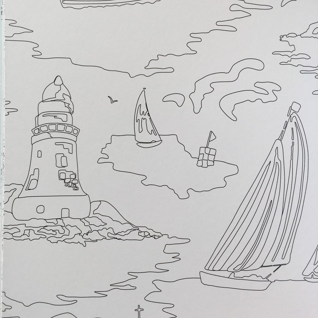 page from The Cath Kidston Colouring Book